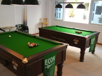 Pool tables on profit share